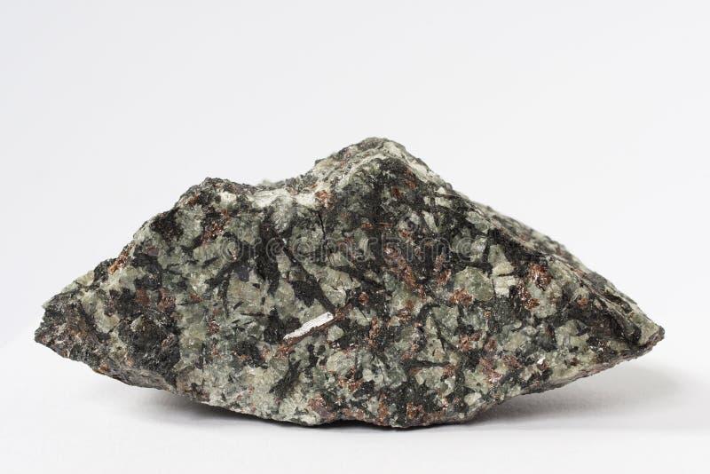 Nepheline also nephelite mineral on white background stock image