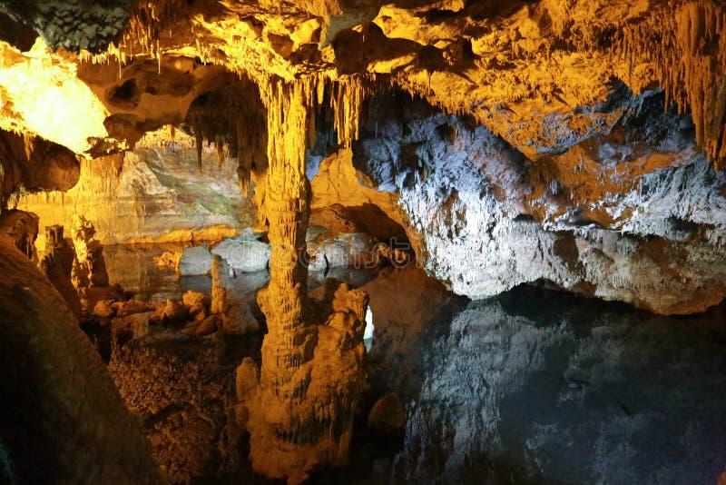 Neptun Cave Sardinia stock photo