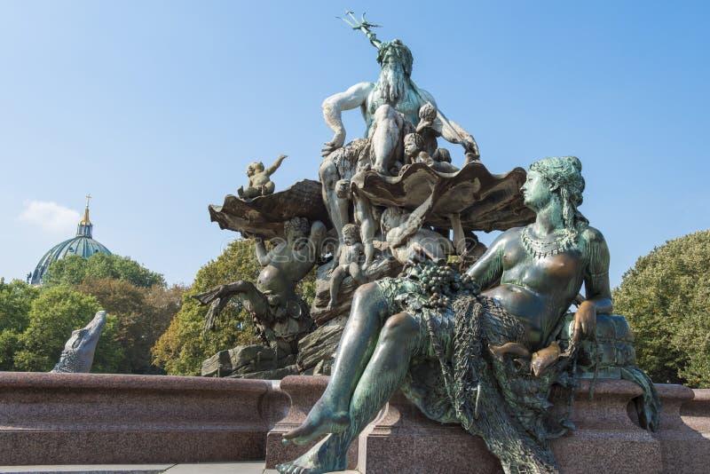 Neptun Fountain Berlin stock photos