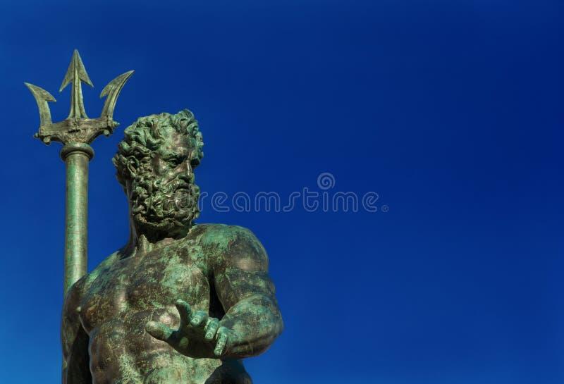 Neptun, Gott des Meeres lizenzfreies stockfoto