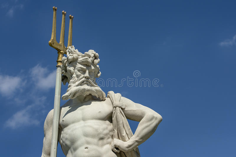 Neptun with a trident stock images