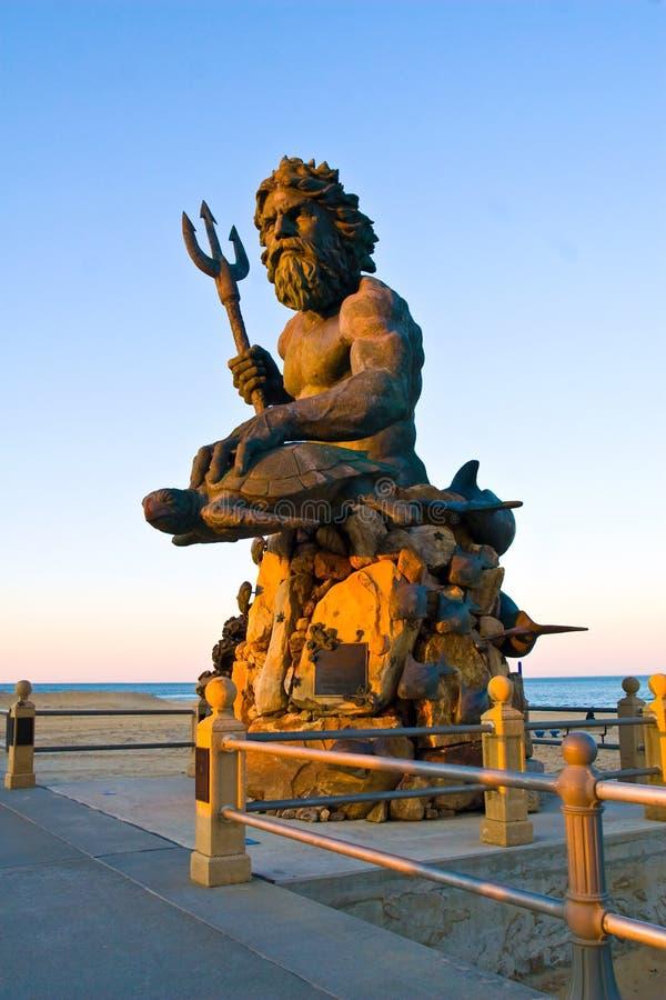 Neptune à la plage de VA photographie stock libre de droits