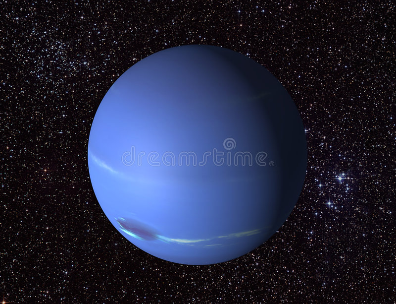 Neptune 3 d ilustracja wektor