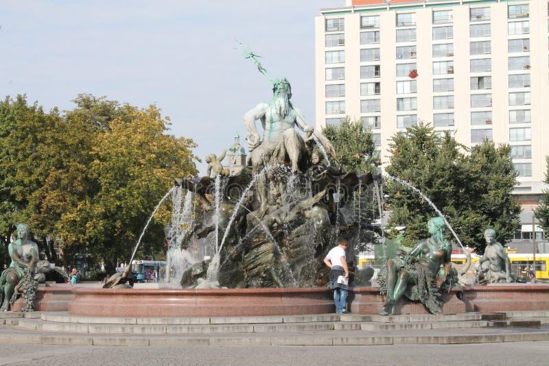 Neptune fontanna obraz royalty free