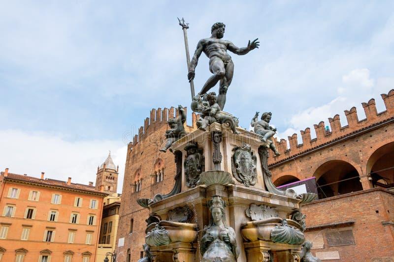 Neptune fontanna Bologna, Włochy zdjęcia royalty free