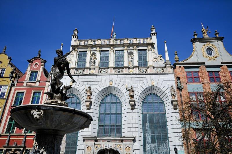Download Neptune Fountain On Dluga Street Gdansk Stock Image - Image: 9130833