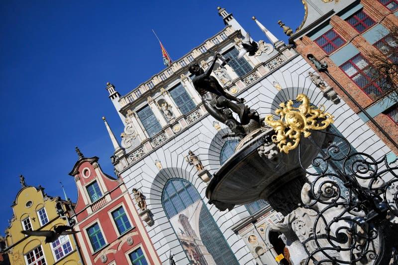 Download Neptune Fountain On Dluga Street Gdansk Stock Photo - Image: 9130880