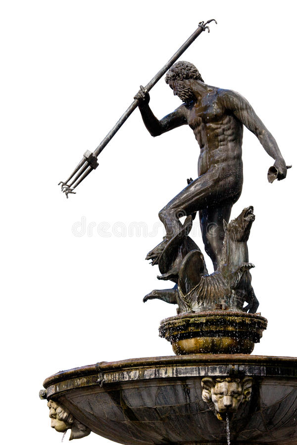 Neptune God of the Sea stock photos