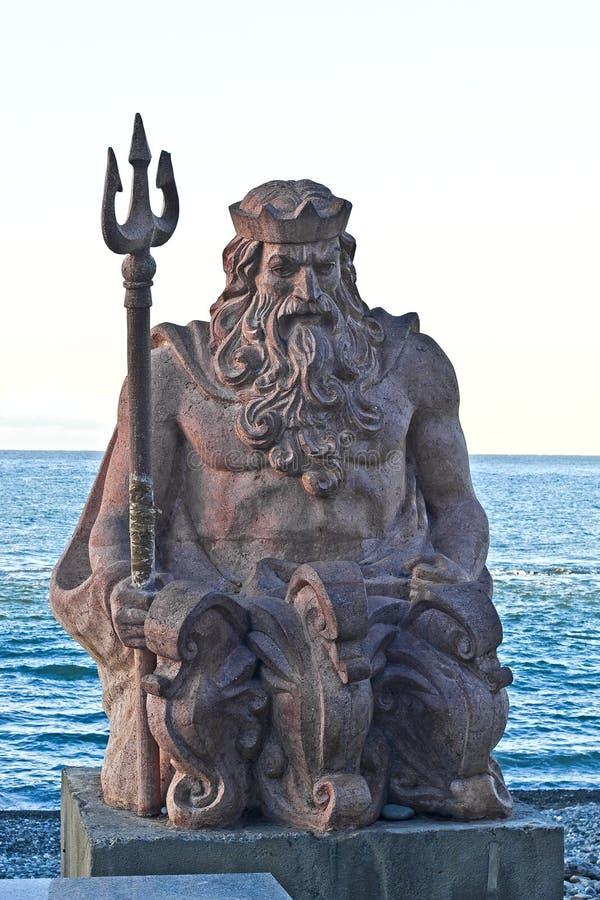 Neptune i Sochi arkivbild