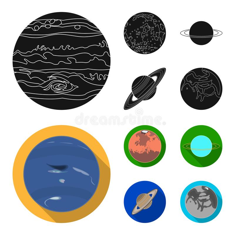 Neptune Mars Saturn Uranus Of The Solar System Planets Set
