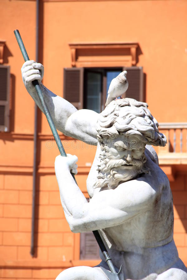 Neptune and the pigeon stock photos