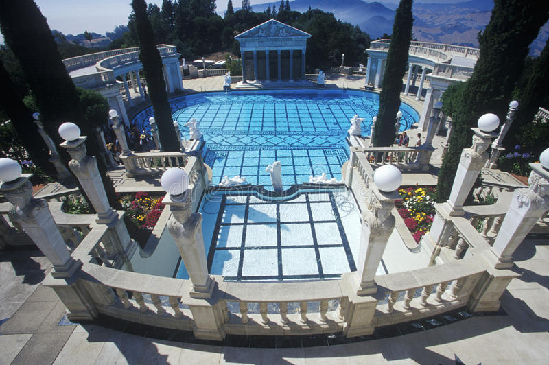 Neptune Pool, Hearst Castle, San Simeon, CA stock images