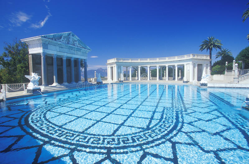 Neptune Pool At Hearst Castle San Simeon Central Coast California Editorial Stock Image
