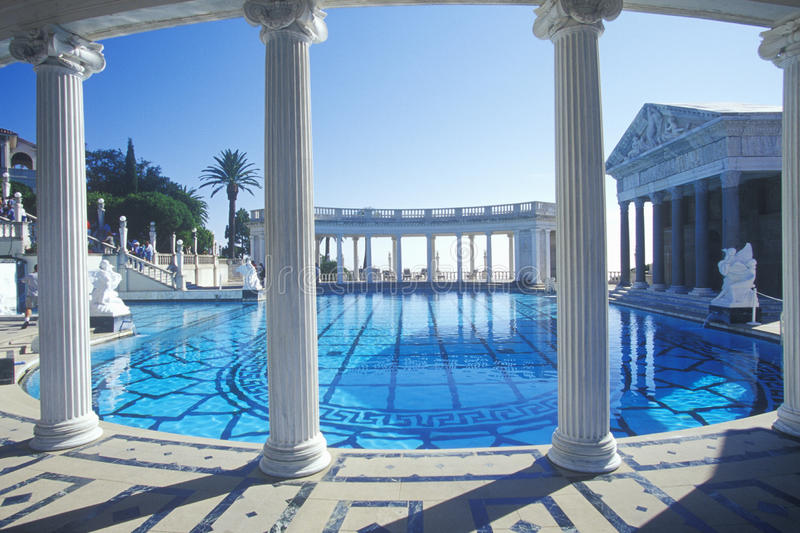 Neptune Pool at Hearst Castle, San Simeon, Central Coast, California royalty free stock photography