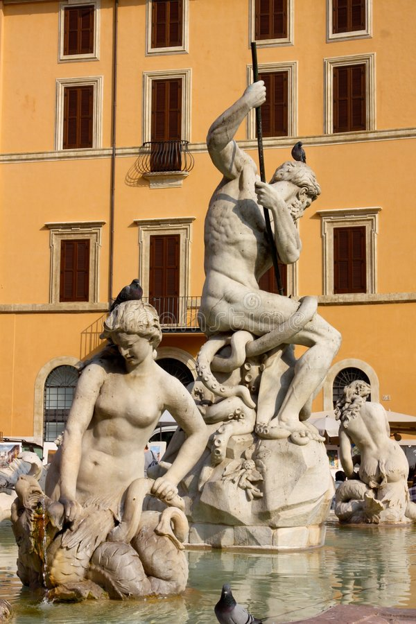 Neptune's fountain in Rome stock image