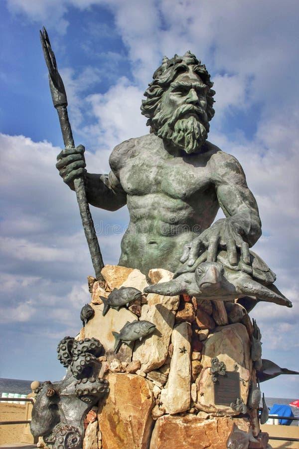 Neptune stan przy Virginia plażą z dennymi zwierzętami zdjęcia royalty free