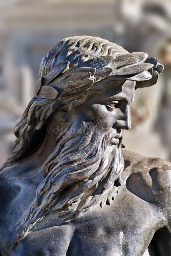 neptune statua obraz stock