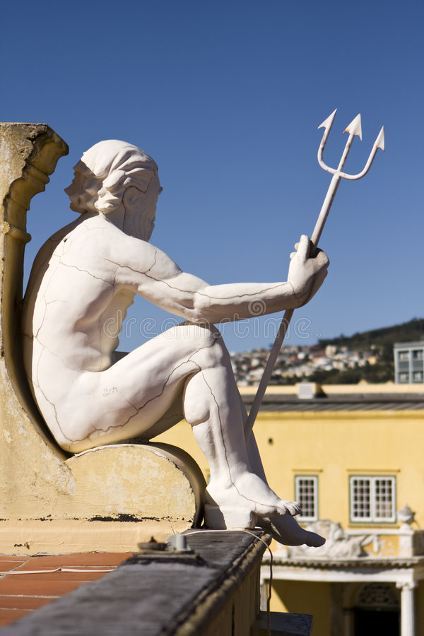 neptune statua fotografia stock