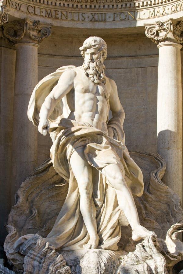neptune staty arkivbild