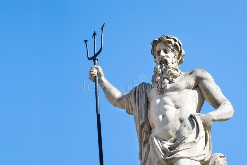 neptune staty royaltyfri foto