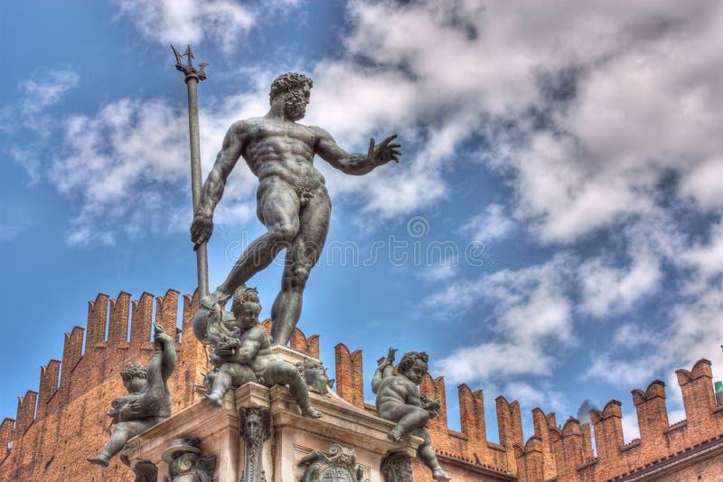 neptune staty royaltyfria bilder