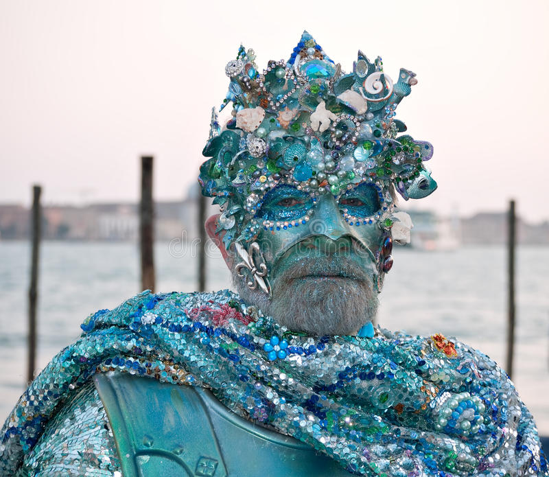 Neptune -Venice Carnival 2011 royalty free stock photo