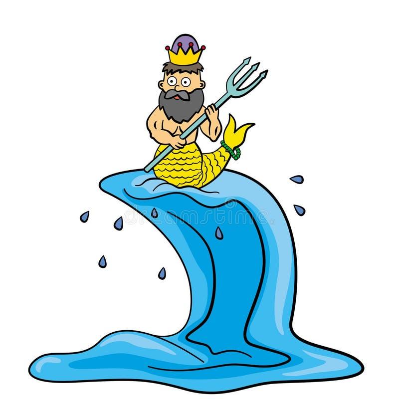 Neptuno stock de ilustración