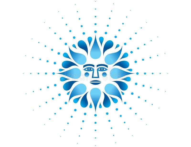 Neptuno Poseidon stock de ilustración