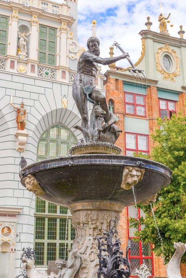 Neptunstandbeeld in Gdansk, Polen royalty-vrije stock afbeelding