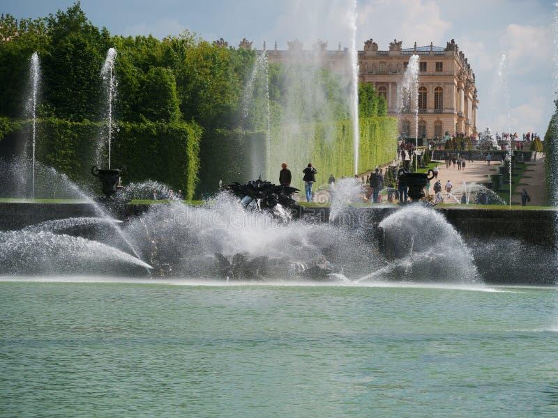 Neptunträdgård i Versailles Paris arkivfoton
