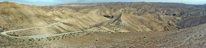 Neqev沙漠风景 库存图片