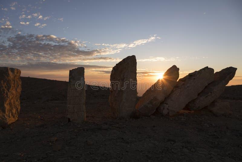 NEQEV沙漠,以色列- 2016年12月20日:在ero上的纪念碑 免版税库存照片