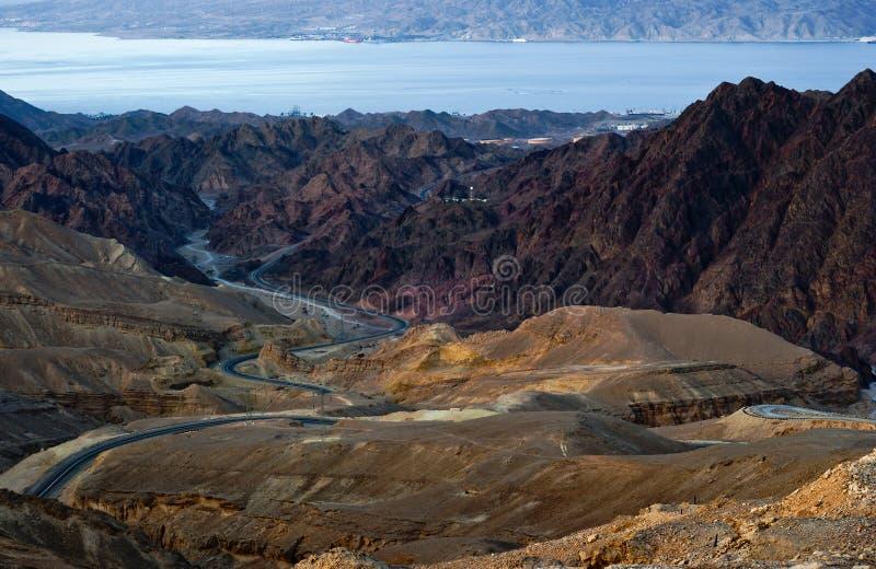Ner rojo Eilat de la barranca. Israel foto de archivo
