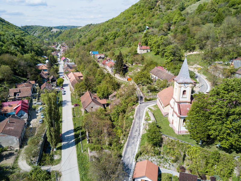 Nera Gorges National Park traditional old village for ecotourism royalty free stock image