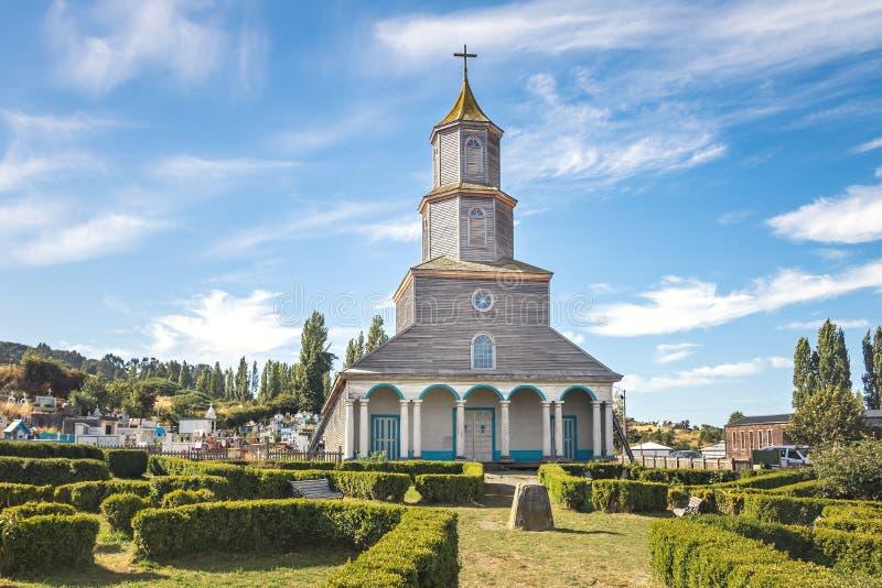 Nercon Church - Castro, Chiloe Island, Chile. Nercon Church in Castro, Chiloe Island, Chile royalty free stock images