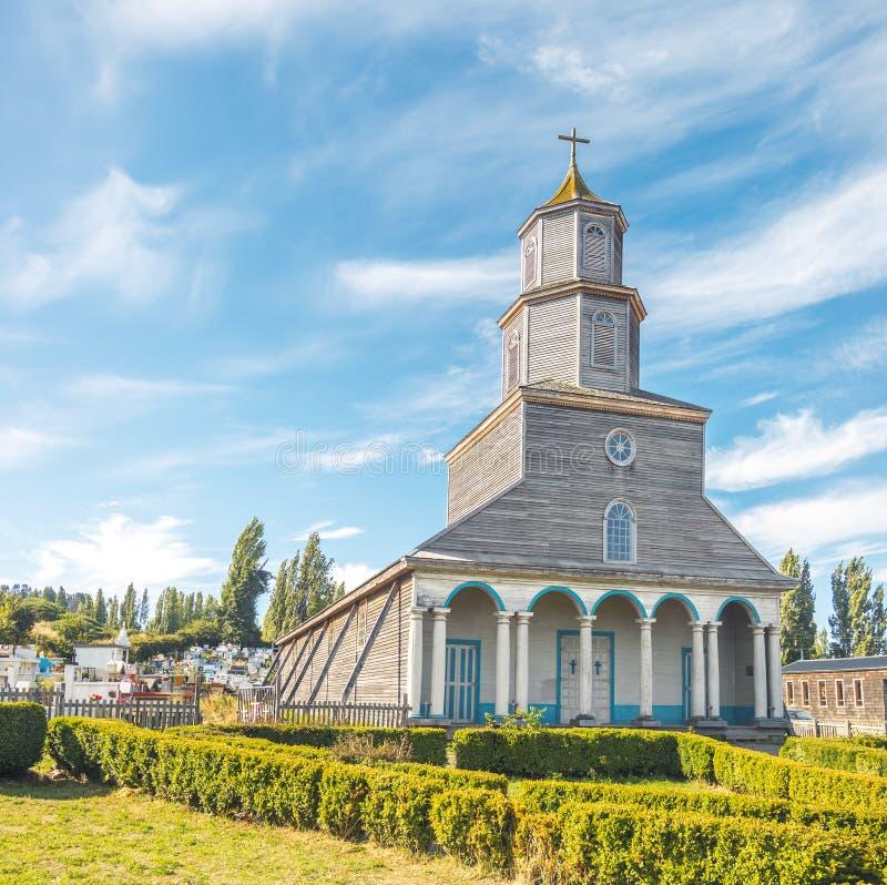 Nercon Church - Castro, Chiloe Island, Chile. Nercon Church in Castro, Chiloe Island, Chile royalty free stock photo
