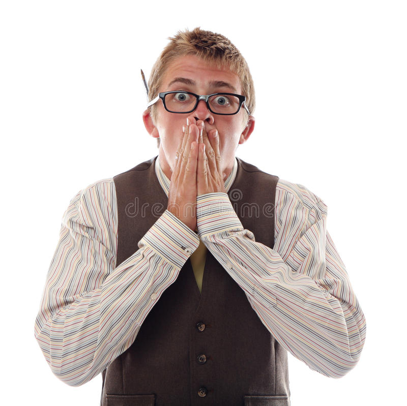 Download Nerd stock image. Image of excited, nerd, expression - 26130735