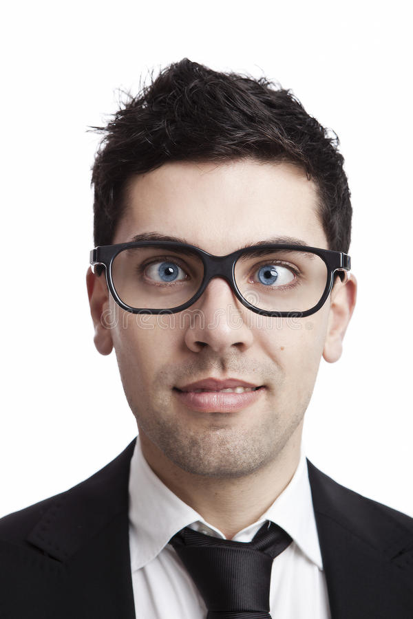Download Nerd businessman stock image. Image of expression, goofy - 20071599