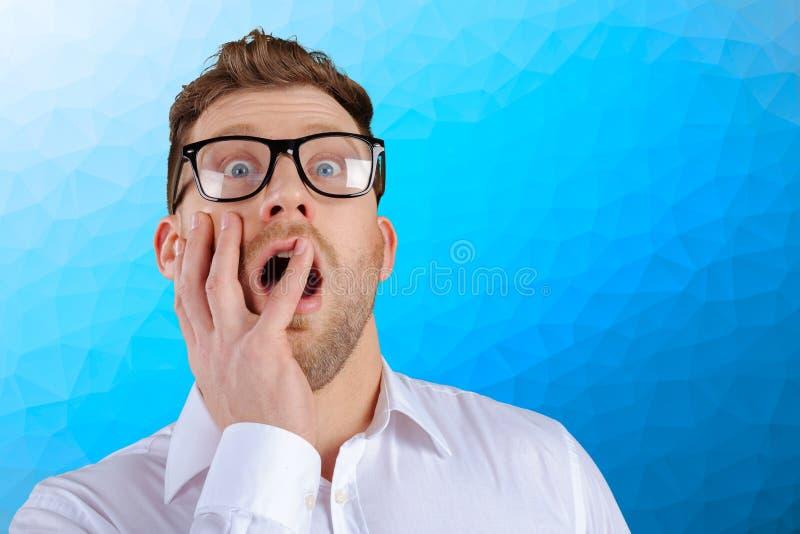Nerd businessman stock images