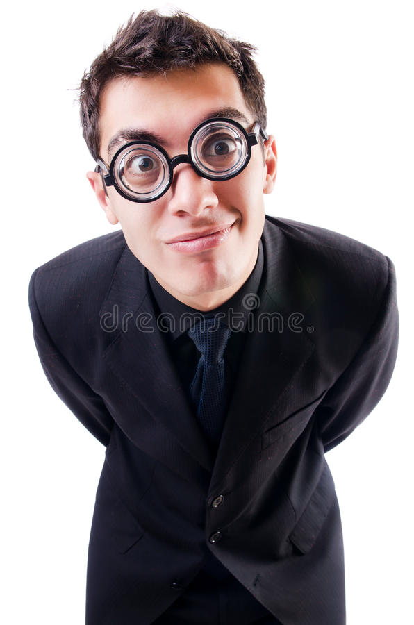 Download Nerd businessman isolated stock image. Image of background - 29670681