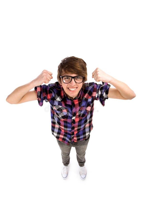 Download Nerd clenching fists stock photo. Image of nerd, freak - 18838216