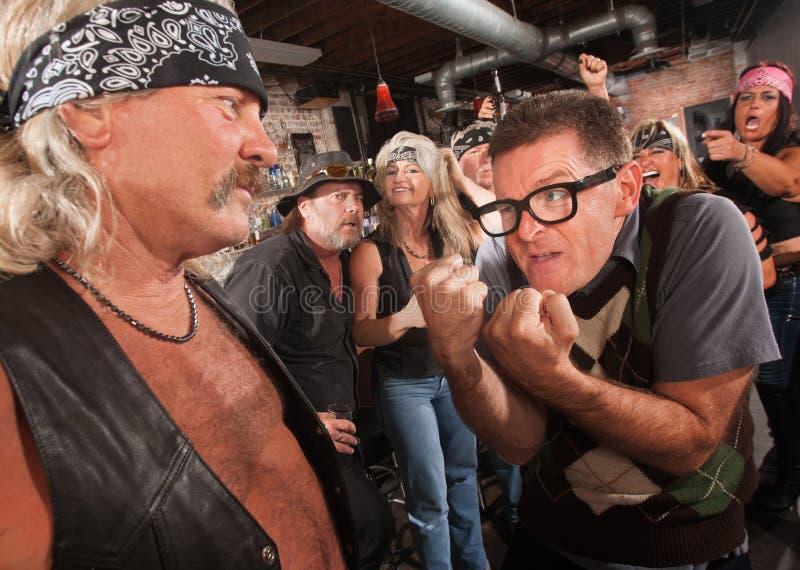 Download Nerd Confronting Gang Member Stock Image - Image: 28669973