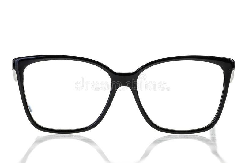 Nerd Glasses. Black nerd or geek eye glasses isolated over a white background royalty free stock image