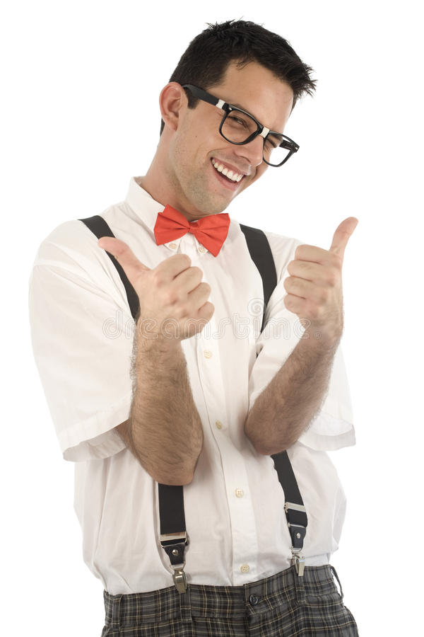 Nerd Isolated On White Royalty Free Stock Photography