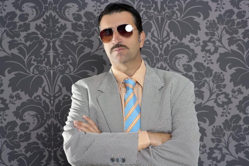 Nerd Serious Proud Businessman Sunglasses Portrait Royalty Free Stock Photography