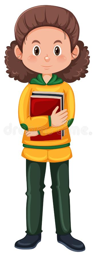 A nerd student character stock illustration