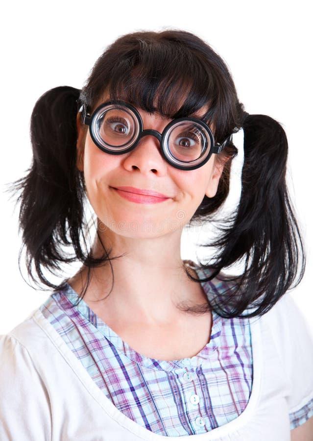 Nerd Student Girl stock image. Image of girls, hair