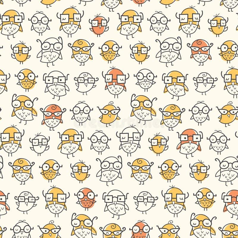 Nerdfågelmodell royaltyfri illustrationer