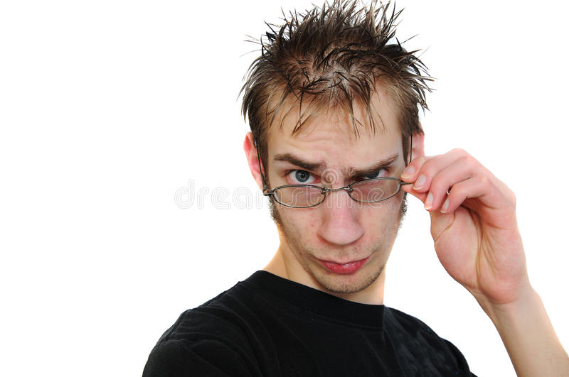 Download Nerdy geek stock image. Image of search, youth, spiky - 14322293