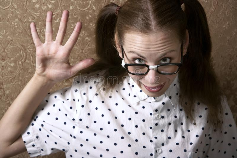 Nerdy Girl stock photos